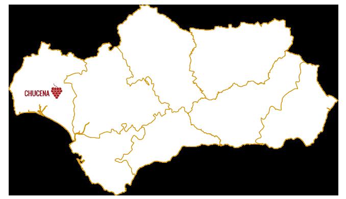 mapa andalucia, vinos de Chucena